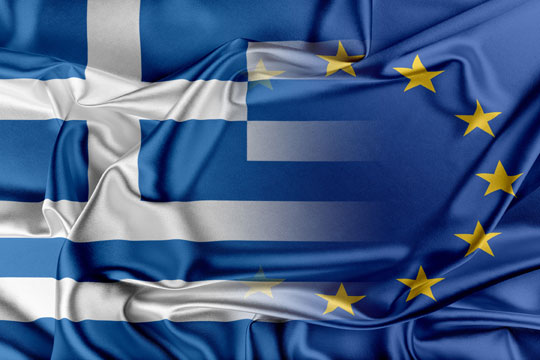 Greece_EU flags